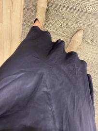 Satin skirt - dark blue