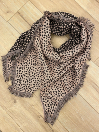 Panter triangle scarf - pink