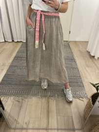 Cotton maxi skirt Azzurro - brown