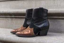 DWRS Label Tivoli western boots - black / cognac
