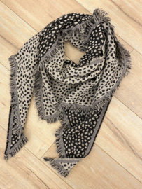 Panter triangle scarf - beige