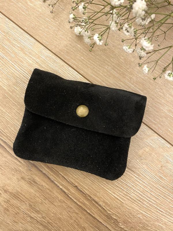 Suede wallet - black