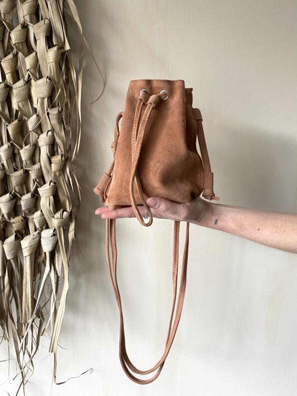 Suède pouch crossbody bag - terra/brown