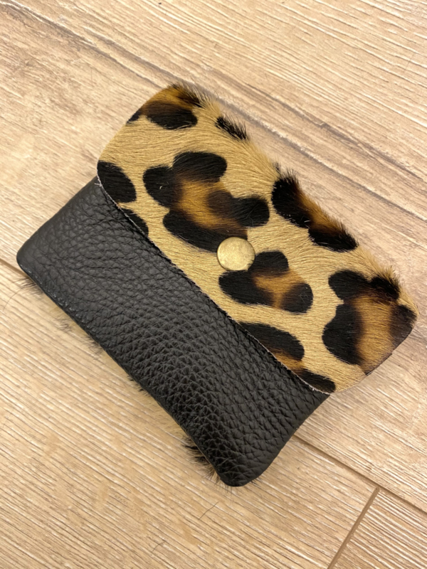 Leather wallet - panter brown