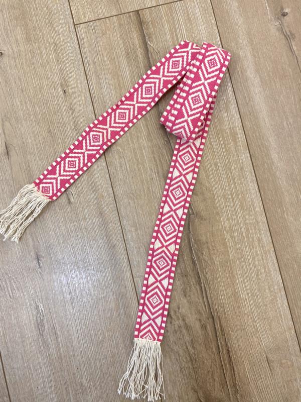 Boho belt - pink