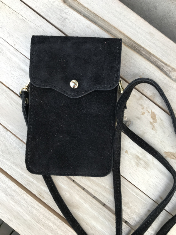 Little phone bag - suede black