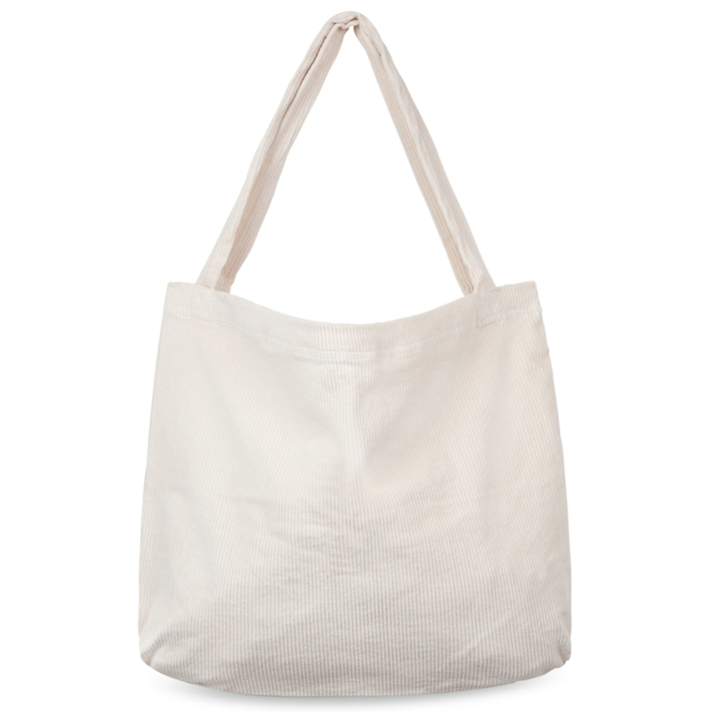 Old white rib mom-bag