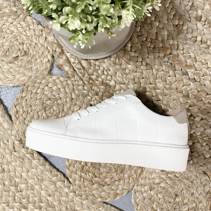 DWRS Label Mali Sneakers - croco wit/beige