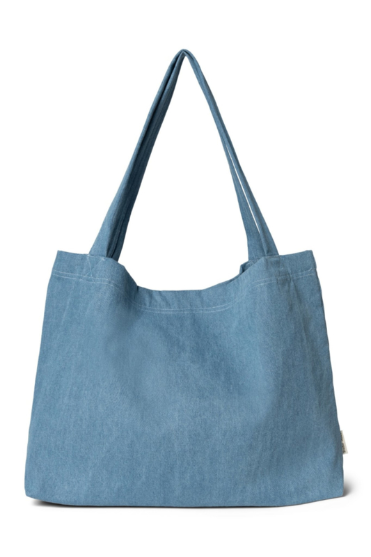 Denim mom-bag