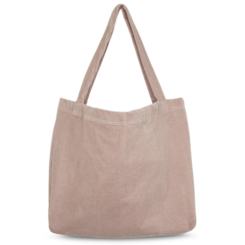 Dusty pink rib mom-bag