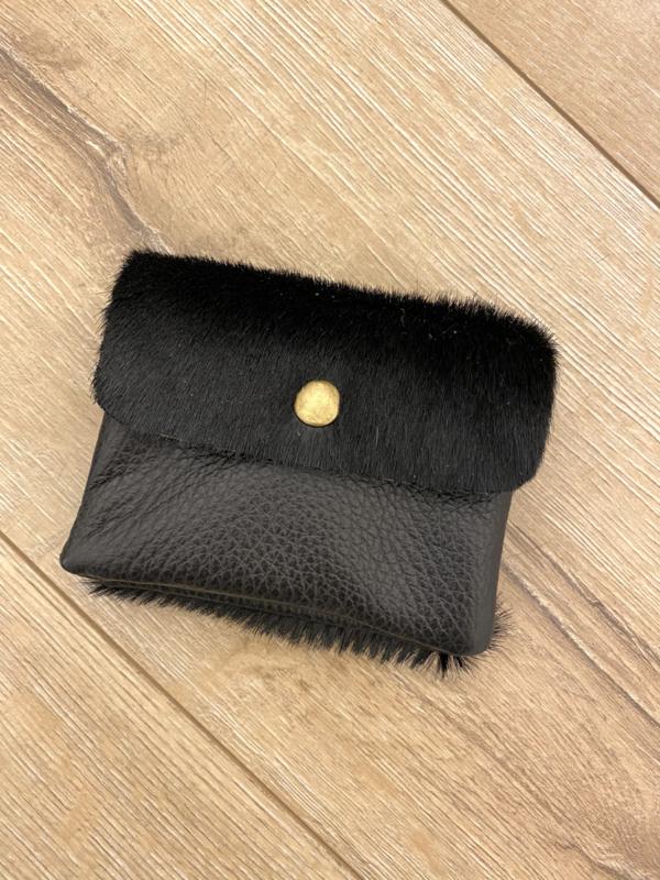 Leather wallet - black