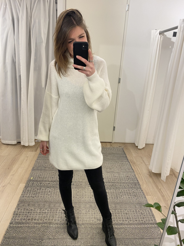 Col knitted pull Ambika - off white