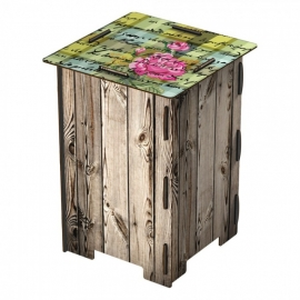 Stool - Chattering Roses