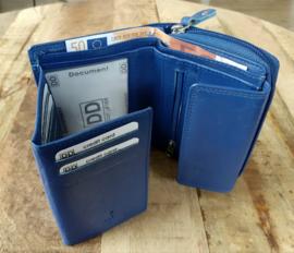Rits portemonnee bleu 02s405