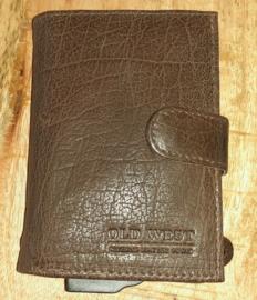 Aluminium credit card houder 17202 bruin
