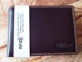 Leren RFID databeschermings portemonnee