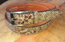 Slangenprint business riem- 551627