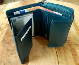 Rits portemonnee jeans 02c405