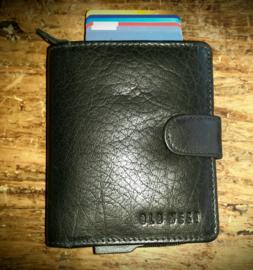 Rits portemonnee met aluminium credit card houder