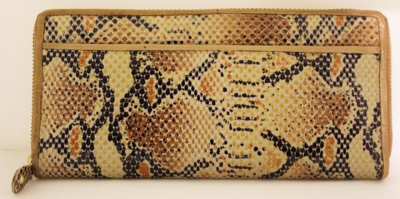 Leren slangen portemonnee - 01H0309