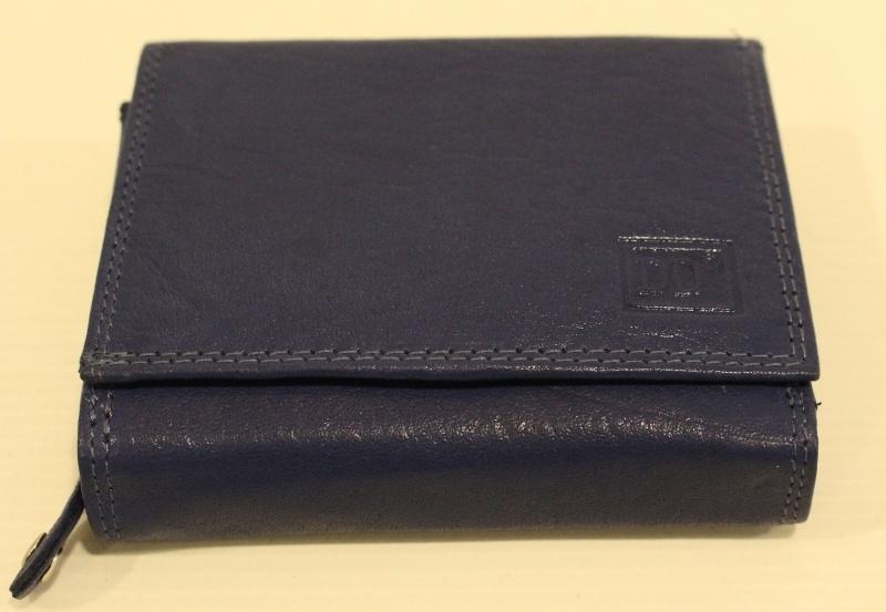 Heren rits portemonnee kobalt blauw - 02C414