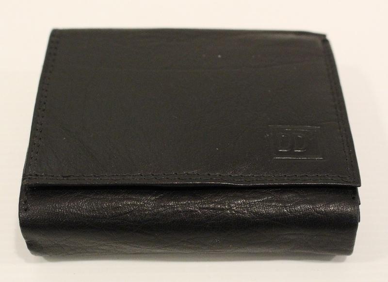 Heren  rits portemonnee zwart - 02C414