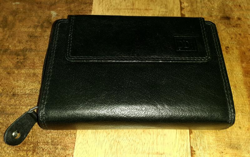 Zwarte rits portemonnee 2c4o5