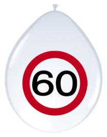 Verkeersbord ballonnen 60 jaar