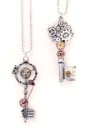 Steampunk ketting sleutel