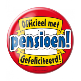 Button Officieel met pensioen
