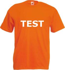 Shirt oranje TEST