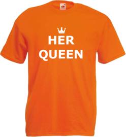 Shirt oranje Her Queen
