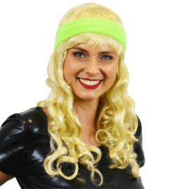 Zweetband haarband neon groen