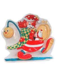 Wanddeco clown met deksels