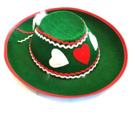 Groene oktoberfest hoed
