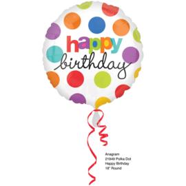 Folieballon Confetti Happy Birthday