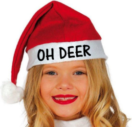 Kerstmuts kind Oh Deer