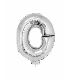Zilveren Letter Folie ballon O