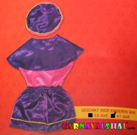 Pietenpakje roze-paars