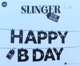 Happy Birthday slinger met LED