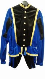 Piet blauw zwart