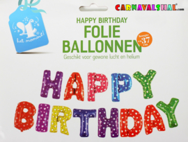 Happy Birthday folieballonen