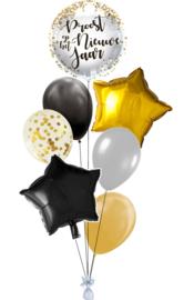 Ballonnentros Proost op het nieuwe jaar