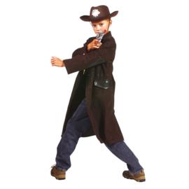 Cowboy lange bruine jas