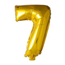 Folieballon cijfer 7 Goud XL