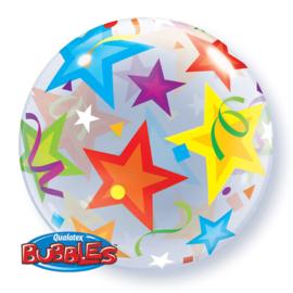 Ballon bubbles doorzichtig met sterren