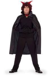 Cape zwart met kraag