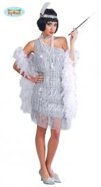 Zilveren Charleston jurk