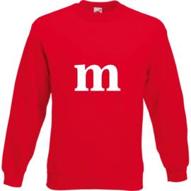Sweater met de letter M