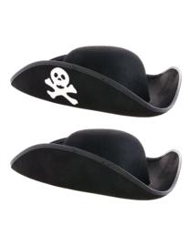 Zwarte piratenmuts